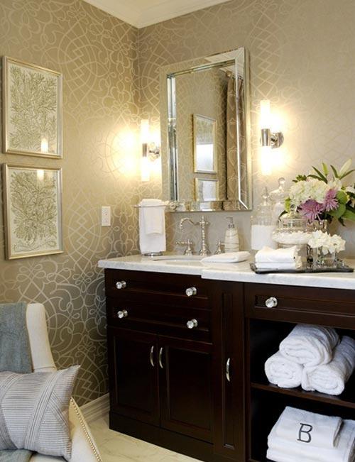 banyo-duvarı Suya Dayanıklı Banyo Duvar Kağıdı Modelleri
