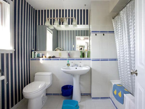 banyo-duvar-kağıdı-2 Suya Dayanıklı Banyo Duvar Kağıdı Modelleri