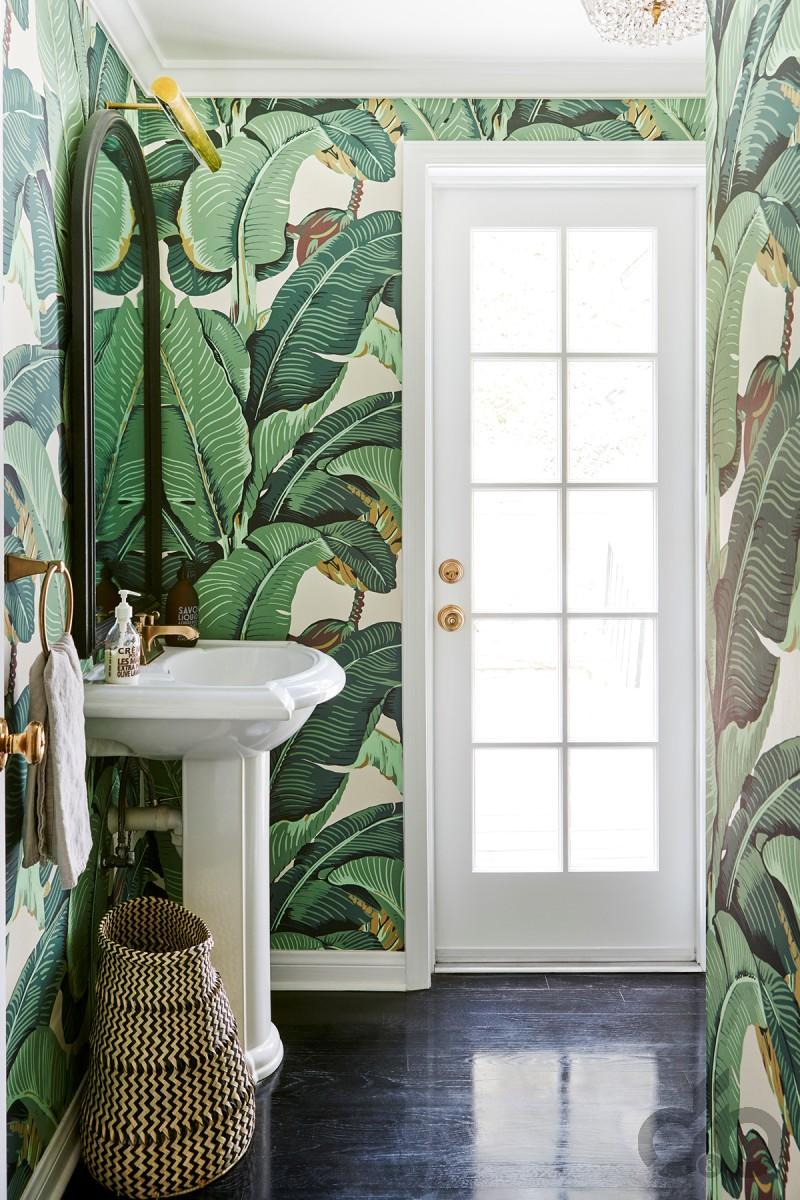 banyo-duvar-kağıdı-buyuk-baskili-dekoratif-duvar-kagidi Suya Dayanıklı Banyo Duvar Kağıdı Modelleri