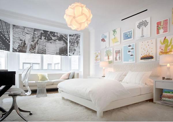 beyaz-yatak-odasi-dekorasyon-modelleri Yatak odası dekorasyon ipuçları