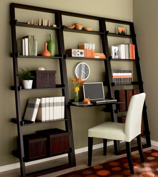 calisma-odasi-kitaplik-modelleri Dekorasyonda Kullanabileceğiniz Kitaplık Önerileri