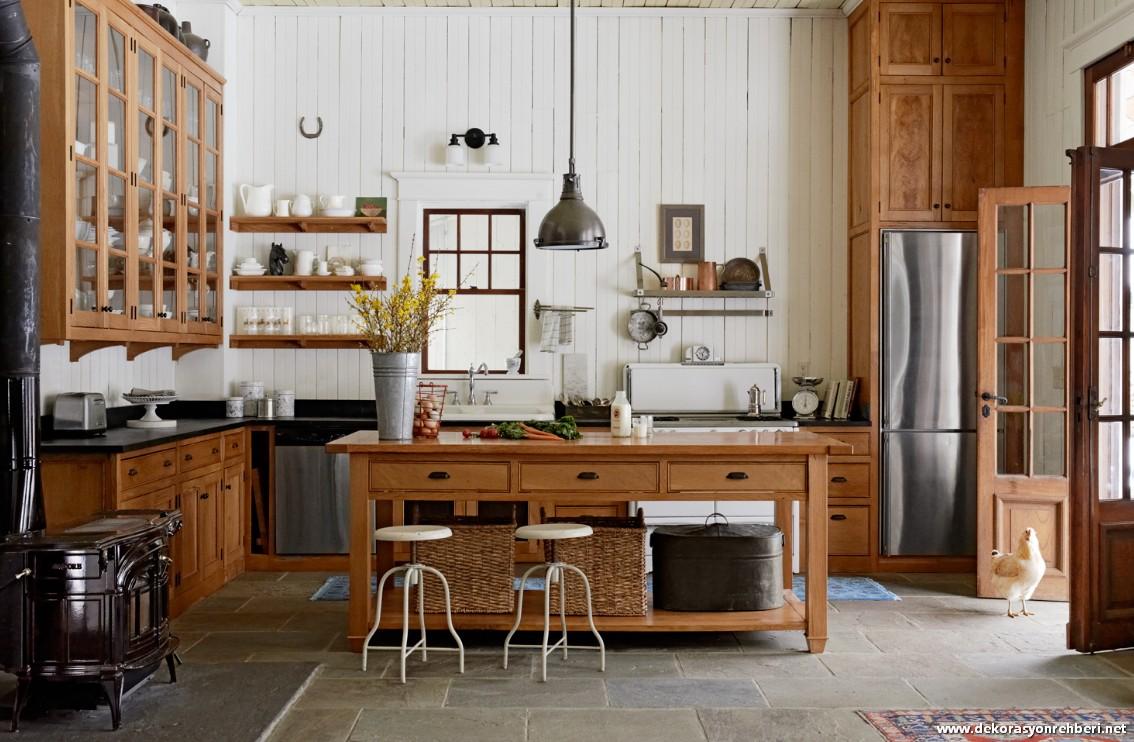 country-tarzi-mutfak-dekorasyon-modeli-17 Country Tarzı Mutfak Dekorasyonu