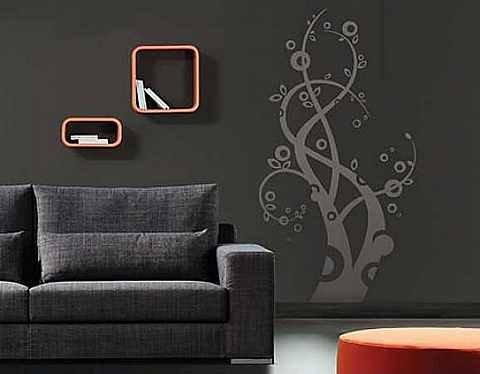 dal-desenli-duvar-sticker-modeli Modern Duvar Stickerları