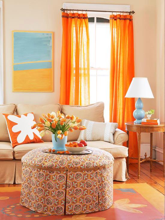 dekorasyonda-renk-uyumlari-salon Dekorasyonda Renk Kullanımı