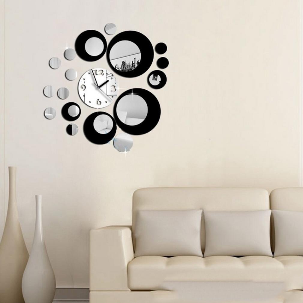 dekoratif-aynali-salon-duvar-saatleri Duvar Saati Dekorasyonda Nasıl Kullanılır