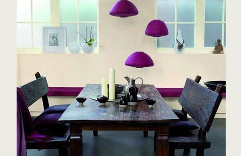 eskitme-mor-yemek-masalari Mor Yemek Odası Dekorasyonu Nasıl Yapılır
