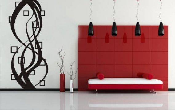 estetik-duvar-sticker-şekli Modern Duvar Stickerları