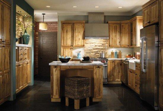 estetik-görünümlü-rustik-mutfak-modeli Rustik Mutfak Dolapları