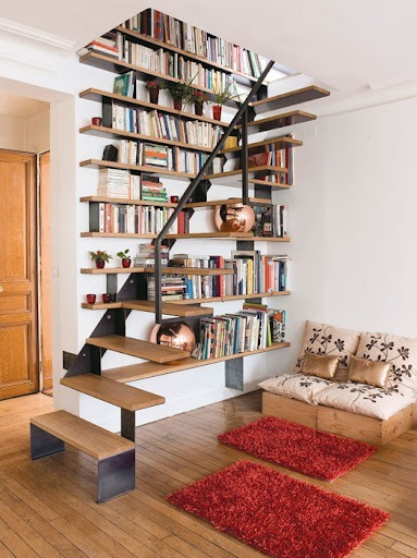 farkli-tasarim-kitaplik-tavsiyeleri Dekorasyonda Kullanabileceğiniz Kitaplık Önerileri