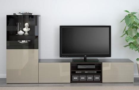 ikea-krem-siyah-tv-unitesi-modelleri-2017 İKEA 2016 TV Üniteleriyle Ev Dekorasyonuza Hava Katın.