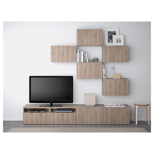 ikea-tv-ünitesi-2018-ceviz-görünümlü IKEA 2018 TV Ünitesi Modelleri