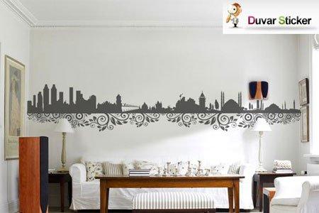 istanbul-desenli-duvar-stickırı Modern Duvar Stickerları
