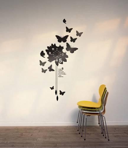 kelebek-duvar-saatleri Duvar Saati Dekorasyonda Nasıl Kullanılır