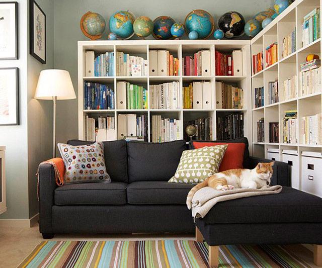 kitaplik-dekorlari-2017 Dekorasyonda Kullanabileceğiniz Kitaplık Önerileri