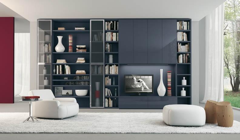 kitaplikli-tv-uniteleri Dekorasyonda Kullanabileceğiniz Kitaplık Önerileri