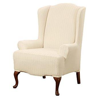 krem kanatlı sandalye