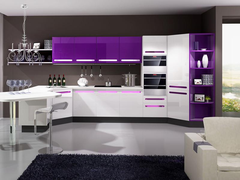 lila-beyaz-ankastre-mutfak-dolabı-modelleri Lila Mutfak Modelleri