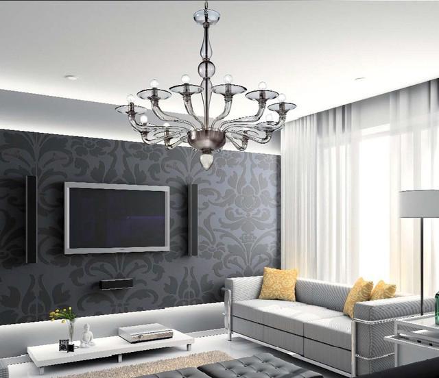 modern-oturma-odasi-avizeleri Modern Ev Dekorasyonunuz İçin Avize Modelleri 2018