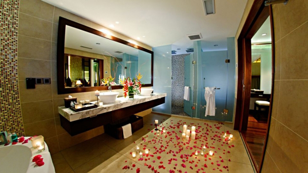 romantik-banyo-dekorasyon-ornekleri Romantik Banyo Dekorasyon Önerileri