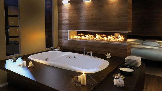 romantik-modern-banyolar Romantik Banyo Dekorasyon Önerileri