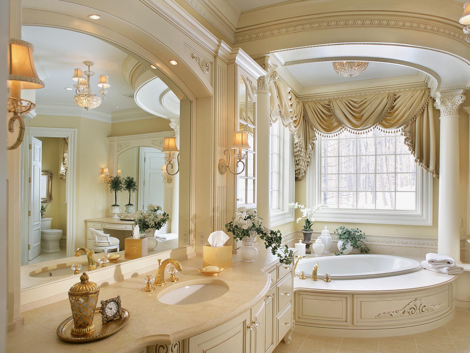 romantik-vintage-banyo-dekorasyonlari-2016-2017 Romantik Banyo Dekorasyon Önerileri