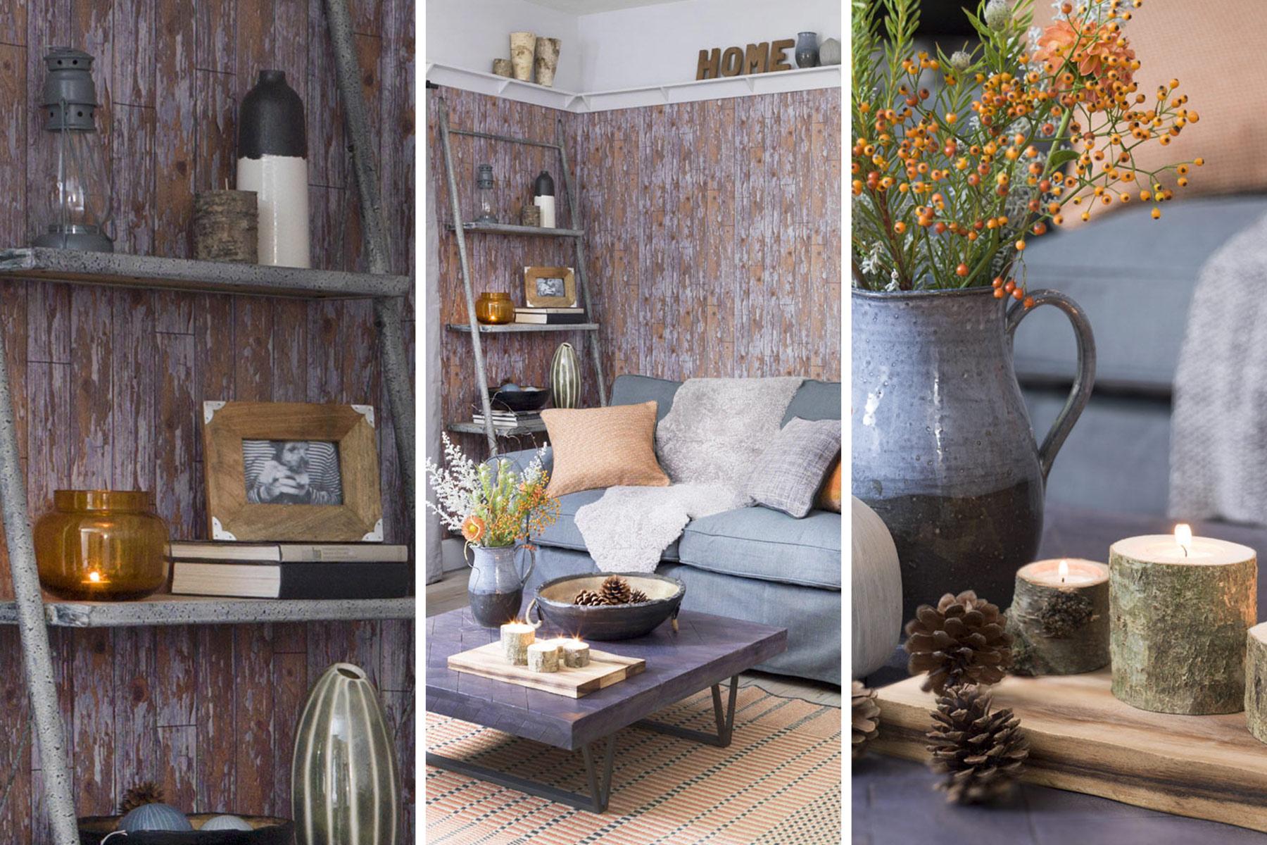 rustik oturma odasi dekorasyonu