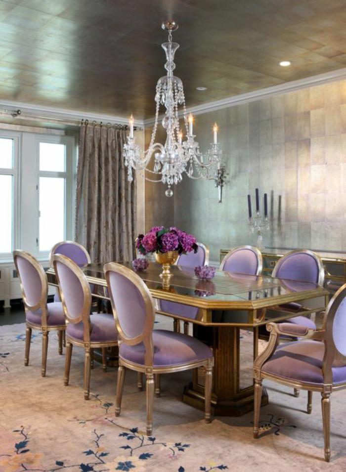 sade-mor-renk-yemek-odasi-dekorlari Mor Yemek Odası Dekorasyonu Nasıl Yapılır
