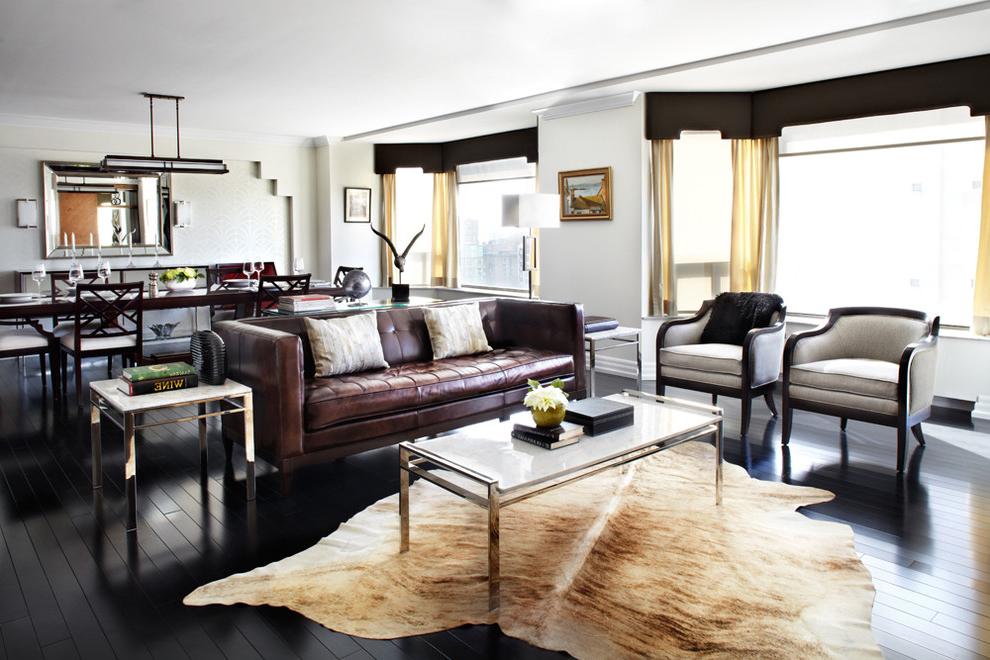 salon-deri-koltuk-dekorları Deri Koltuklar Dekorasyonda Nasıl Kullanılır