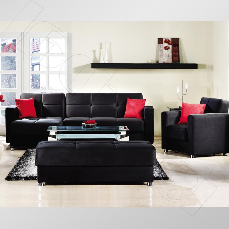 siyah-oturma-odası-dekorasyon-fikirleri Siyah Mobilyalar İçin Dekorasyon Önerileri