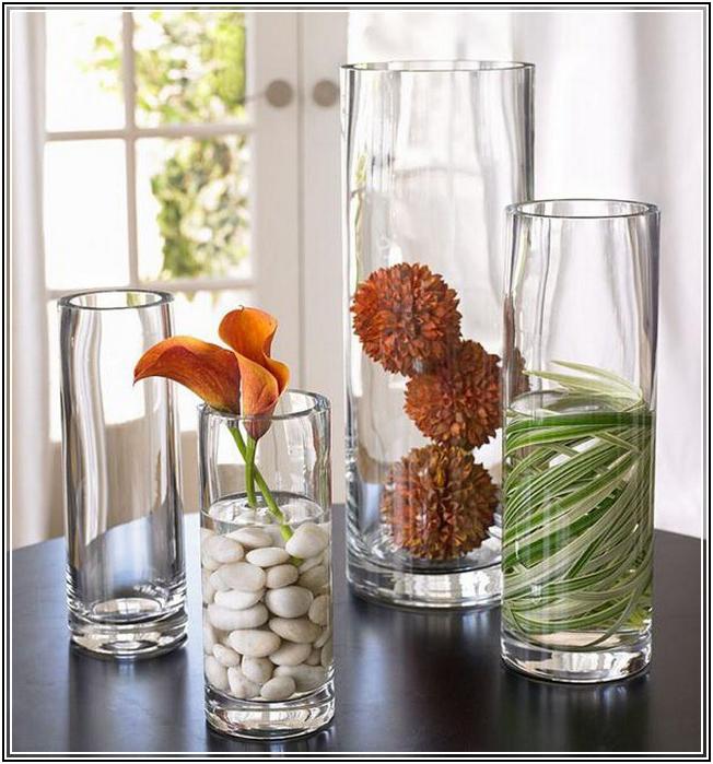 uzun-cam-vazo-modelleri Eviniz İçin Dekoratif Vazo Modelleri