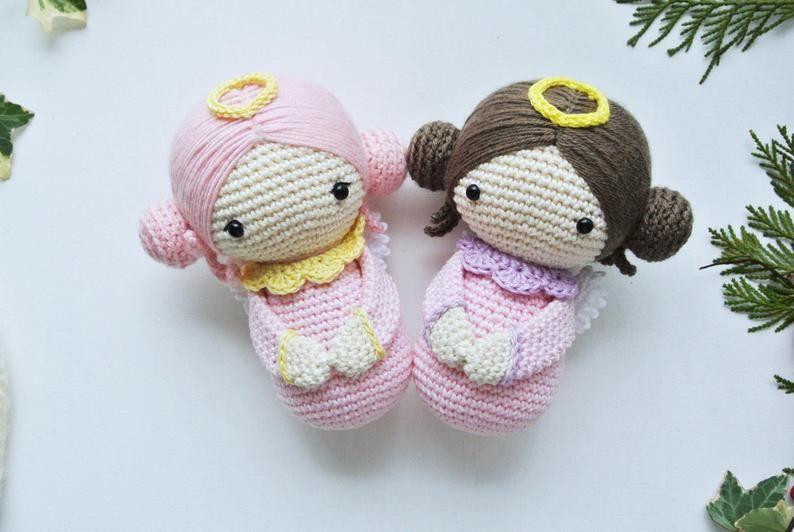 Stylish  Amigurumi Crochet Angel Nacimiento Ücretsiz Desenler